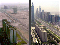 Dubai in 1991 & 2005